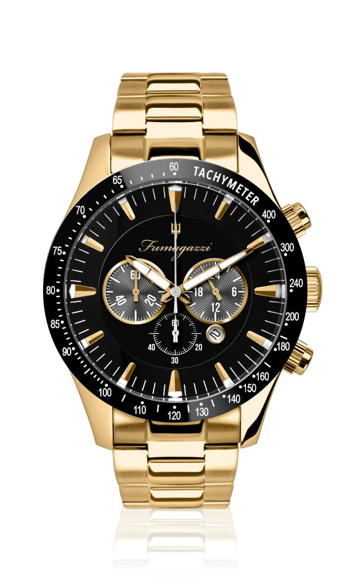 Cronografo gold e nero